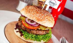 Jimmy's Steakhouse: Amerykańskie burgery z frytkami i sałatką dla 2 osób za 34,99 zł i więcej w Jimmy's Steakhouse w Toruniu (do -37%)
