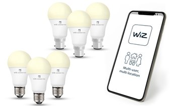 Three-Pack of Wiz LED Smart Bulb