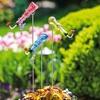 Bottle Hummingbird Feeder Stake Set (3-Piece)
