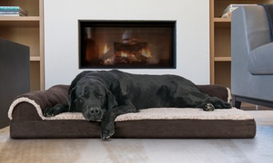 Memory-Foam Chaise Lounge Dog Bed with Cooling Gel