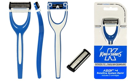 One (£2.99) or Two (£4.99) King of Shaves Sensitive System Razors (Up to 58% Off)
