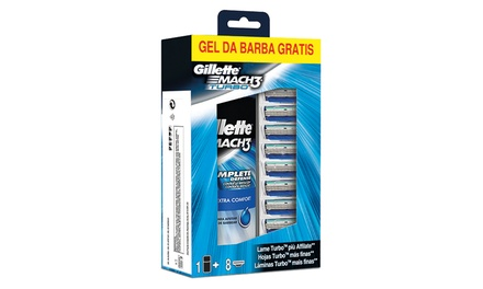 Set barba Mach 3 Turbo Gillette