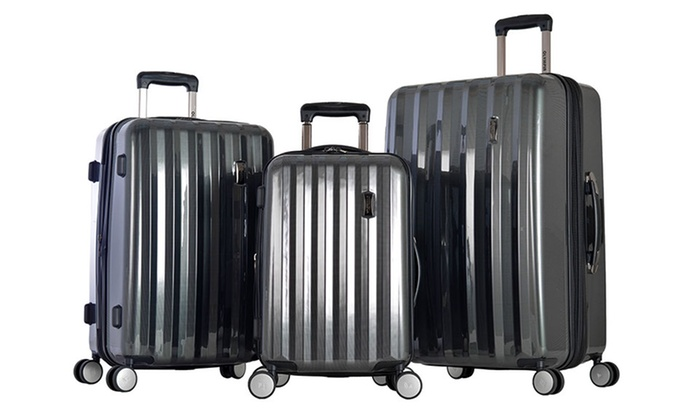 04a708f8c Olympia USA Titan 3-Piece Expandable Spinner Luggage Set