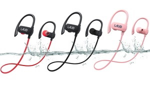 Laud Active Water-Resistant Wireless Bluetooth Earbuds with Mic