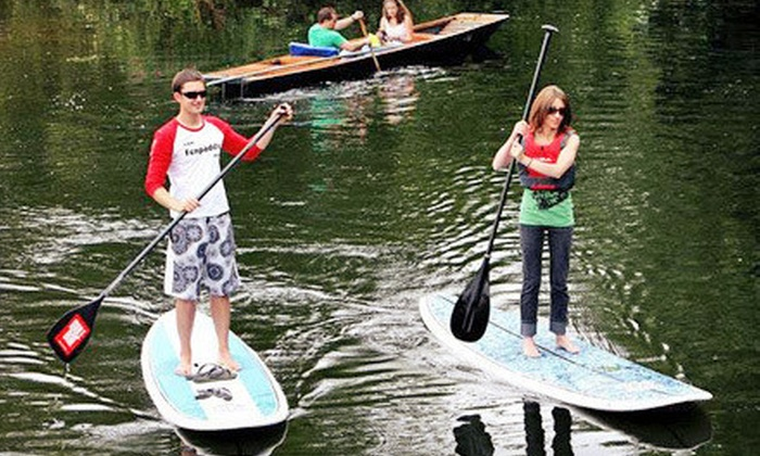 Whaz SUP - Seabrook: One-Hour Standup-Paddleboard Rentals for Two or Up to Four from Whaz SUP (Up to 51% Off)