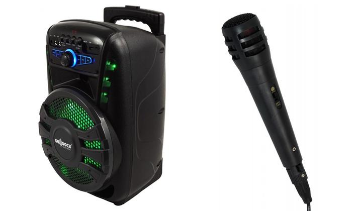 Groupon Goods Global GmbH: Altavoz bluetooth en forma de trolley con ruedas, Karaoke y micrófono