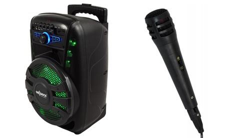 Altavoz bluetooth en forma de trolley con ruedas, karaoke y micrófono Thulos