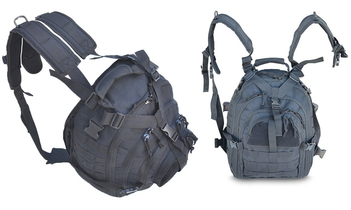 Multiple-Layer Backpack with Mesh Pockets