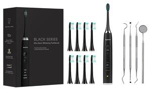AquaSonic Ultrasonic Toothbrush with Brush Heads and Dental Kit