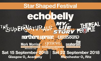 Star Shaped Festival 2018, 15 September in Glasgow, 22 September in Manchester (Up to 30% Off)