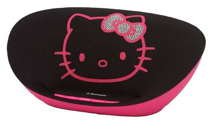 hello kitty wireless bluetooth speaker groupon. Black Bedroom Furniture Sets. Home Design Ideas