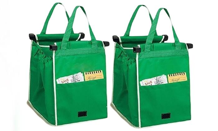 Tasche Für Einkaufswagen : 2 taschen f r den einkaufswagen groupon goods ~ Buech-reservation.com Haus und Dekorationen