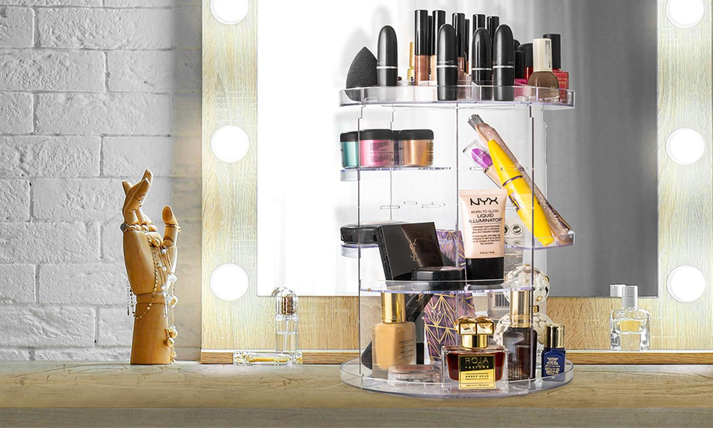 One or Two Rotating Cosmetic Organisers