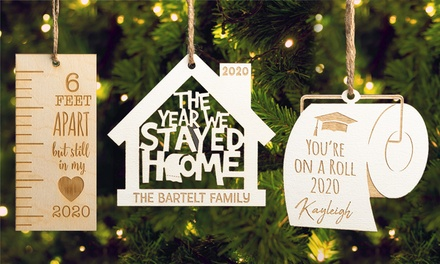 One, Two, or Three Customized Christmas Tree Ornaments from Personalized Planet (Up to 66% Off). Three Options.