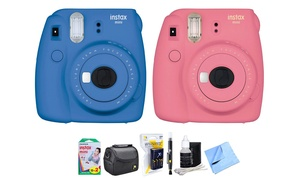 Fujifilm Instax Mini 9 Instant Camera with Film and Charger Bundle