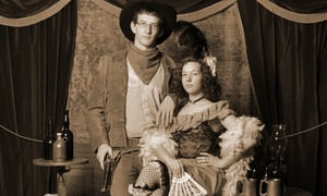 "The Tintypery: Old-Time Photo Shoot for Up to Four or Eight and One 8""x10"" Print at The Tintypery (Up to 55% Off)"