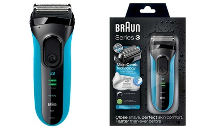Braun Series 3 3040 Men's Foil Shaver (€59.99) with Extra Plug (€62.99) With Free Delivery