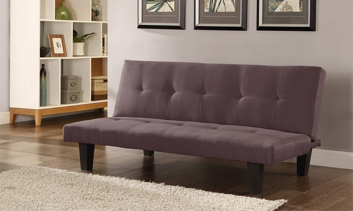 Three Seater Suede Sofa Bed