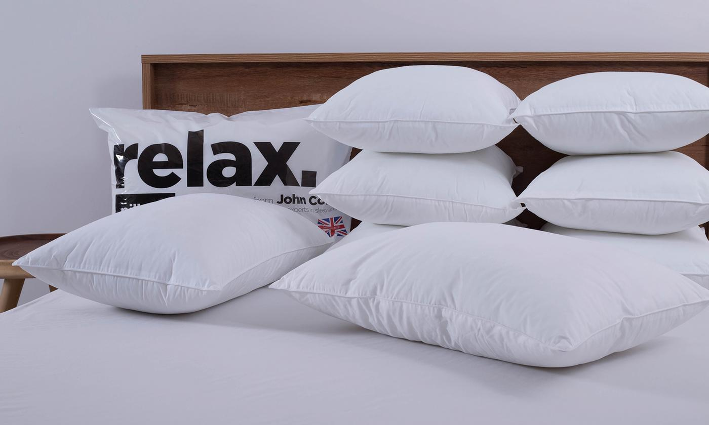 Eight John Cotton Relax Hollowfibre Pillows
