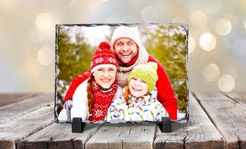 Up to 88% Off Custom Slate Photo Prints with Display Easel
