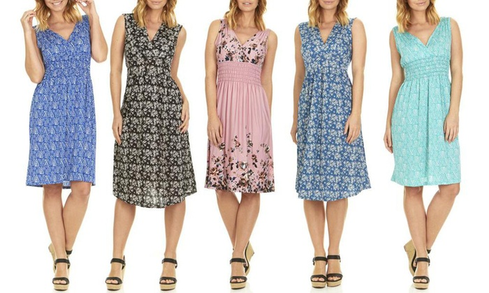 Up To 77% Off on Women\'s Knee Length Dress | Groupon Goods