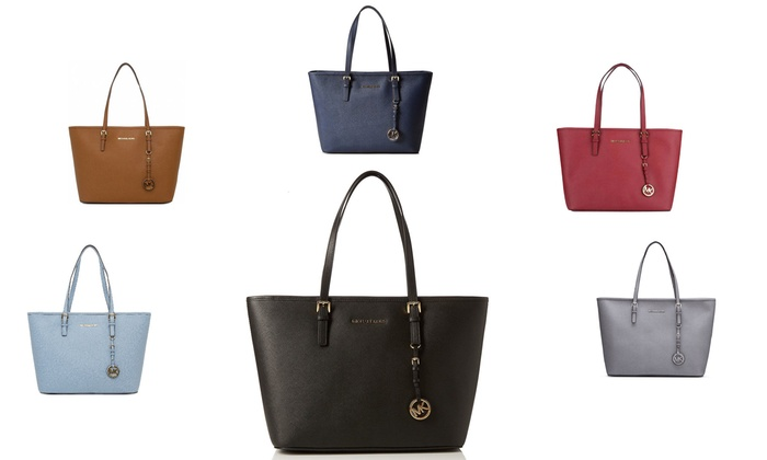 0145e9e57a5a Up To 45% Off Michael Kors Jet Set Travel Tote | Groupon