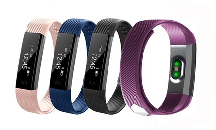 Touchscreen Fitness Tracker: without Heart Rate Monitor ($19.95) or with Heart Rate Monitor ($29.95)