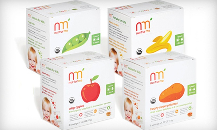 NurturMe Organic Baby Food: Variety Four-Pack or Six-Pack of Pouches of Organic Baby Food from NurturMe Organic Baby Food (57% Off)