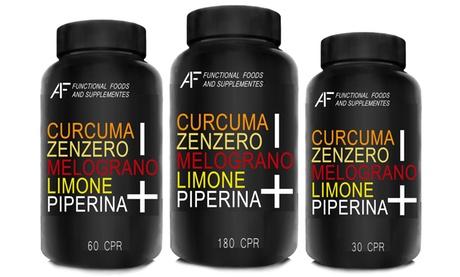 Hasta 720 cápsulas de suplemento A.I.F. Lineadiet con cúrcuma, jengibre, granada, limón y piperina