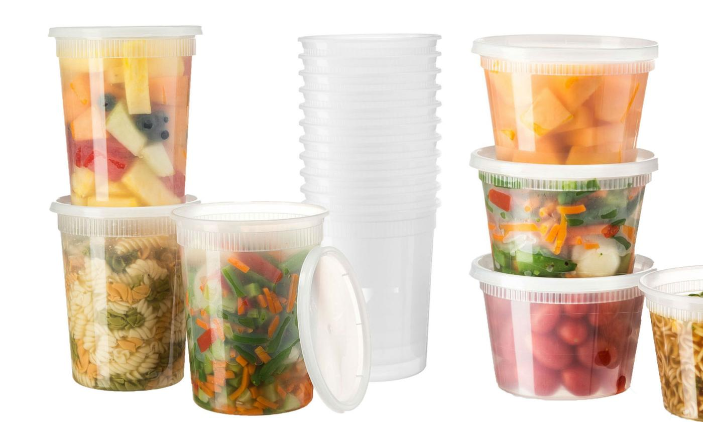 50-Pc Microwave and Freezer Safe Food Storage Containers Set