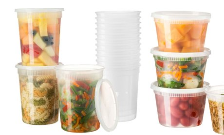 Microwave and Freezer Safe Food Storage Containers Set (50-Piece)!