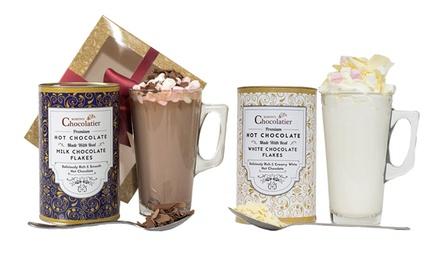 1 ou 2 Coffrets Gourmet Mug, Chocolat chaud et Marshmallows Martins Chocolatier, différentes saveurs
