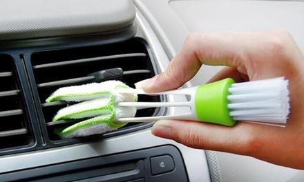 1, 2 of 3 schoonmaakborstels met dubbele kop voor de auto