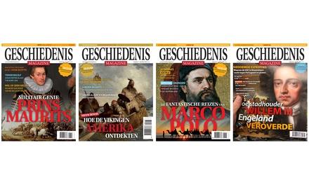 8 nummers Geschiedenis Magazine, naar keuze met boek je abonnement stopt automatisch
