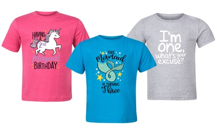 Toddler Girls' Birthday Tee