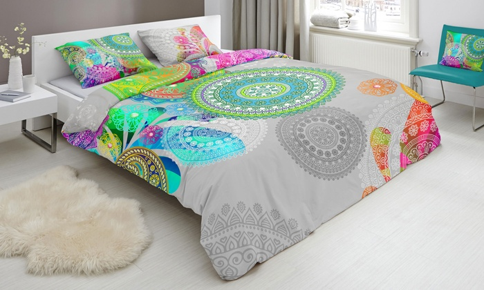 Housse de couettes color e hip groupon shopping - Housse de couette coloree ...