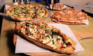 HomeSlyce Pizza Bar: Pizzeria Fare for Dine-in at Home Slyce (Up to 40% Off)