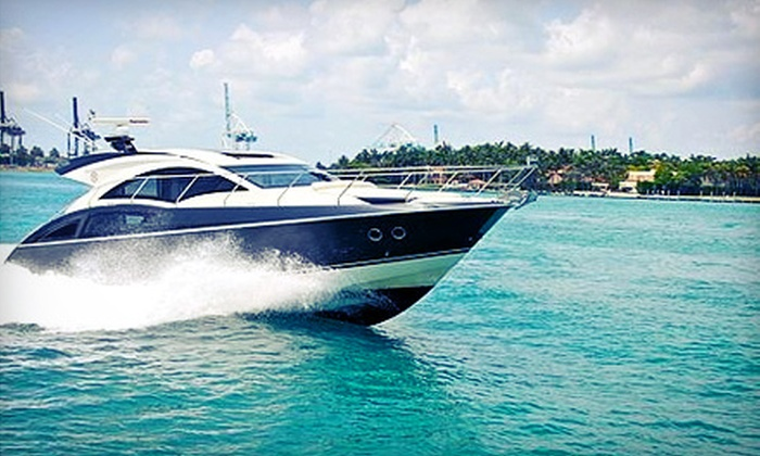 Golden Yacht Charters - South Pointe: Four-Hour 18- or 22-Foot Powerboat Rental or Two-Hour Sunset Yacht Cruise from Golden Yacht Charters (Up to 51% Off)