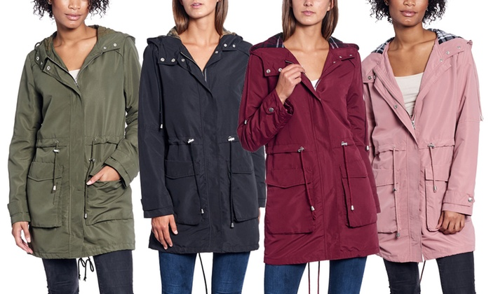 Women's Lightweight Hooded Parka Jacket. Plus Sizes Available ...
