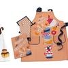 Apron, Kitchen Towel, Oven Mitt, and Pot Holder Set (4-Piece)