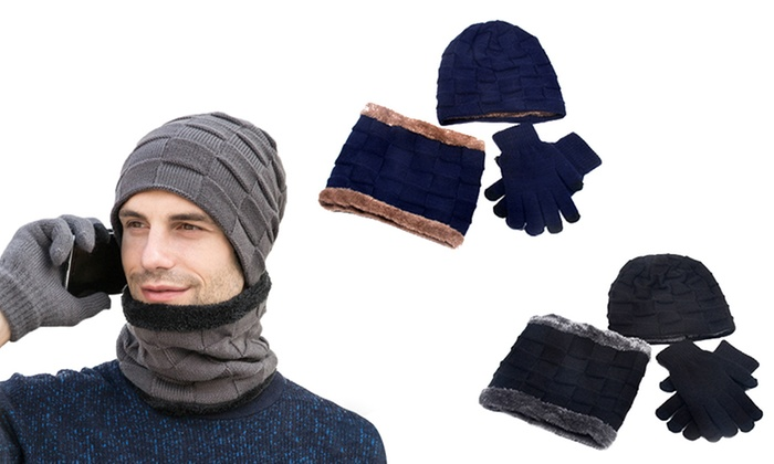 jusqu'à 55% Set bonnet, écharpe et gant | Groupon