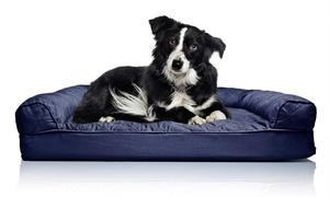 Lit orthopédique matelassé chien