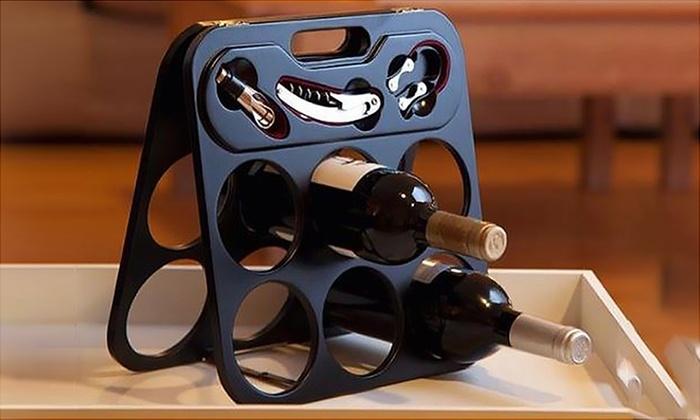 Portabottiglie con accessori groupon goods - Accessori vino design ...