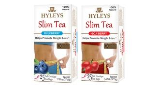 Hyleys Tea Goji Berry and Blueberry Slim Tea Bundle