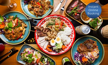 Three-Course Northern Thai / Isan Feast with Wine for 2 ($39), 4 ($75) or 6 People ($110) at Boos Kitchen (Up to $237)