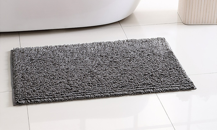 Up To 38 Off On Chenille Microfiber Bath Rugs Groupon Goods
