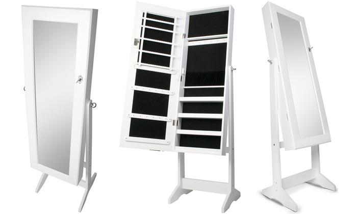 armoire bijoux sur pieds groupon. Black Bedroom Furniture Sets. Home Design Ideas