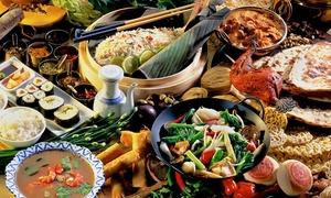 Weisse Lotus-Restaurant: Asiatisches All You Can Eat Abend-Buffet für 1, 2 oder 4 Personen im Weisse Lotus-Restaurant (bis zu 24% sparen*)