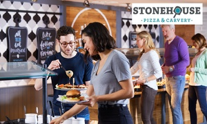 Stonehouse Pizza & Carvery: Main Course and Drink for Two at Stonehouse, Multiple Locations Nationwide (Up to 50% Off)