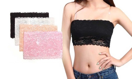 FourPack of Lace Bandeau Bras